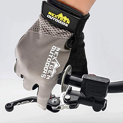 - Mountain Bike Touchscreen Cycling Gloves - Full Finger Mtn Biking Glove, Breathable with Screen Wiping Pad, iPhone or Android Touchscreeen Capable, Bike Riding Training Gloves for Men Women (Small)