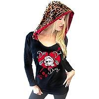 Demi Loon Gothic Skull Hoodie Tee| Emo DIY Punk Goth Sweater Top