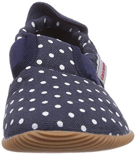 Giesswein Silz - Slim Fit - pantuflas de lana niño Azul (Dk.blau)