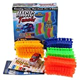 Other 220 Pieces Magic Flexible Track Set Amazing Racetrack Glow in the dark car Can Bend Flex 11Ft Toys