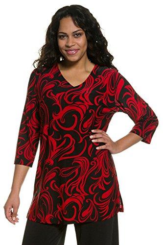 Noir Rouge Grandes Tailles Tunique Popken 701153 Femme Ulla nBq0OwSx