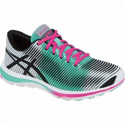 ASICS Women's GEL-Super J33 Running Shoe,Black/Mint/Pink,7.5 M US