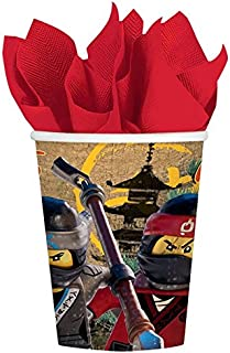 LEGO u0027Ninjago Movieu0027 9oz Paper Cups ...  sc 1 st  Amazon.com & Amazon.com: LEGO u0027Ninjago Movieu0027 Small Paper Plates (8ct): Toys u0026 Games