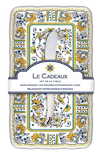 Le Cadeaux Rooster Burriera & Laguiole Spreader set regalo, giallo GS-BD-RY
