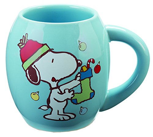 Vandor Peanuts Snoopy Holiday 18 Oz. Oval Mug (85465) (Snoopy Stuff)