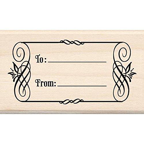 Inkadinkado To and From Tag Wood Stamp
