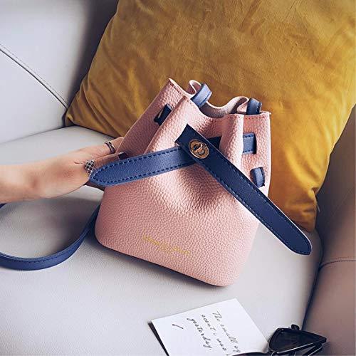 Fannb Nuova Semplice Spalla Borsa Bianca Secchiello Rosa Marea Da Tracolla Moda A Piccola Donna I8IqrwB