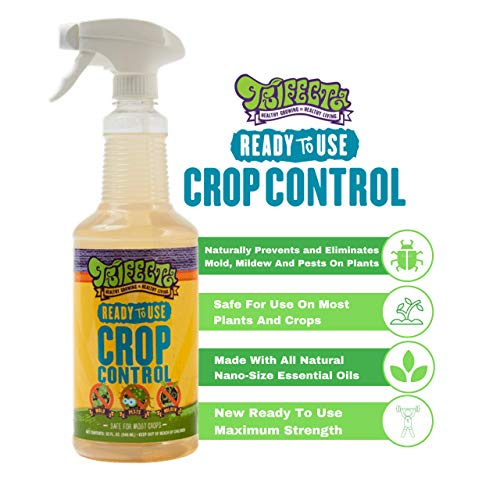 Trifecta Crop Control Ready to Use Maximum Strength All-in-One Natural Pesticide, Insecticide, Fungicide, Miticide, Non-Toxic, Naturally Eliminates Mites, Mold, Mildew, and More on Plants 32 oz