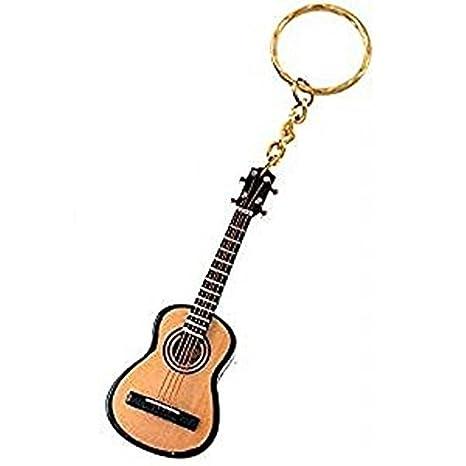 2503-25353-Llavero «Guitarra española» en madera 7,5 centimetros