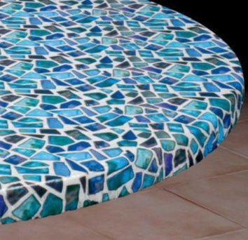 vinyl table cover small round fits 36 44 dia - Kitchen Table Covers Vinyl