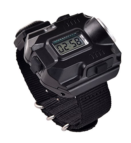 BlueSunshine Super Bright Wrist LED Light USB Rechargeable Waterproof LED Flashlight Wristlight Watch with Compass, Best for Running Biking Mountain Climbing Camping Hiking Patrol Hunting