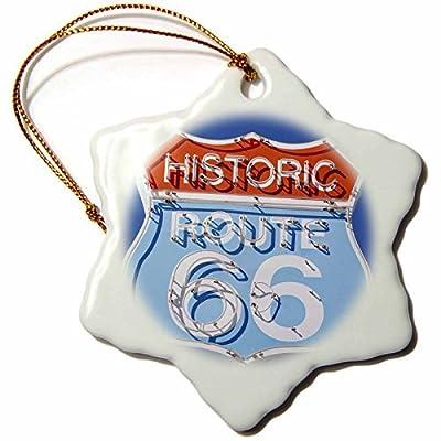 Ornaments to Paint _ Arizona, Seligman, Neon Signage on Historic Route US3 LSE Lynn Seldon Snowflake Porcelain Ornament, 3-Inch
