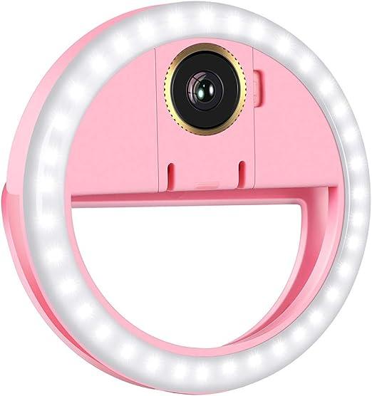 Luz LED para selfie 3 niveles de brillo recargable LED selfie luz para fotograf/ía de maquillaje de v/ídeo anillo de llenado con clip port/átil con 32 LED para tel/éfono inteligente