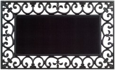 Imports Decor Rubber Doormat, Traypin, 18-Inch by 30-Inch
