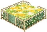 gold bar display case - Boston International Lunch Napkin Caddy, Arch Design in Gold Leaf
