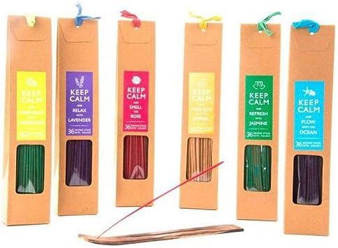 FumandoEspero Pack de 6 Paquetes de Incienso (Aromas Variados ...