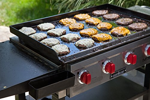 Camp Chef, Best Professional Restaurant Grade Cooking Flat Tog Grill with Grilling Surface and Side Shelves FT600