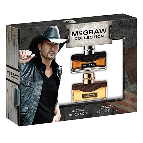 Tim McGraw for Men Collection, McGraw & McGraw Southern Blend Eau De Toilette Spray, 1.0 oz. (2 Piece Gift Set), Masculine Fragrance