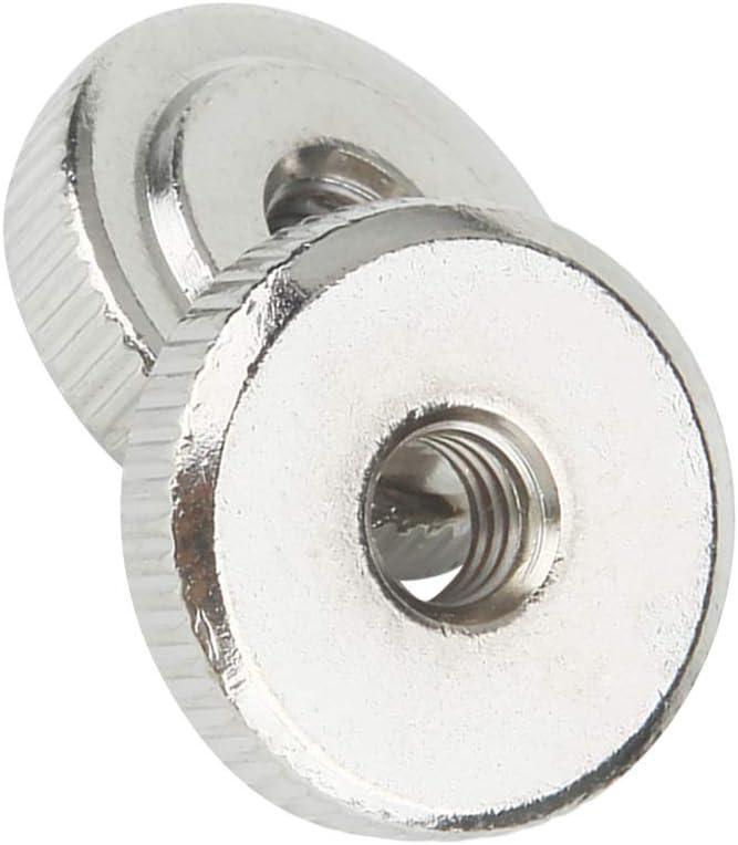 M6 Thread Carbon Steel Thin Type Knurled Flat Thumb Nuts Fastener 8pcs