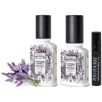 Poo-Pourri Bathroom Deodorizer Set Lavender Vanilla:Lavender with Vanilla, 3Piece