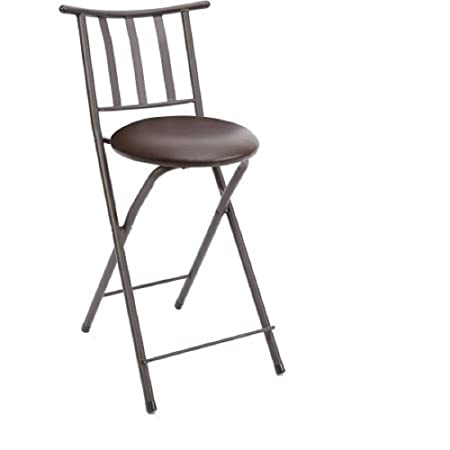 Affordable Mainstays 24 Slat-Back Counter Height Folding Barstool 1, Expresso
