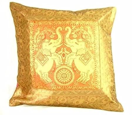 Ganesham Handicraft Indian Ethnic Hand Decorative Silk Pillow Awesome Brocade Home Decor Decoration