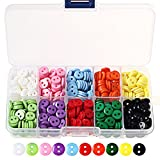 750 Pieces Mixed Colours Resin Buttons, Wowot Craft Buttons With Plastic Storage Box For DIY Sewing Crafting