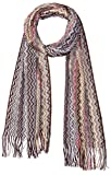 MISSONI Women's Zig Zag Scarf, Brown