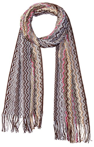 MISSONI Women's Zig Zag Scarf, Brown by Missoni