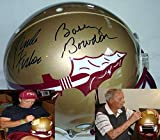 Coach Bobby Bowden and Coach Jimbo Fisher Hand Signed Autographed Florida State FSU Seminoles Authentic Proline Football Helmet