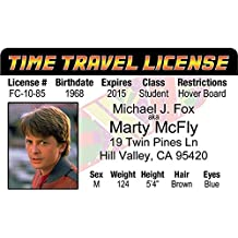 Signs 4 Fun Nbtidm Marty Mcfly's Driver's License