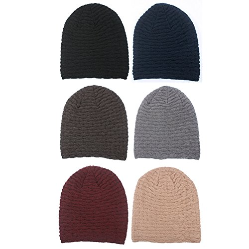 Crochet Stretch Sombreros Zhhlinyuan Soft Thick Hop Cap Fashion punto Women Hip Red Beanie Warm De Wine Slouch Skull Unisex Men q7wtqrxZTp