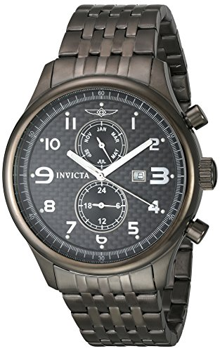 Invicta Men's 0368 II Collection Gunmetal Ion-Plated Stainless Steel Watch