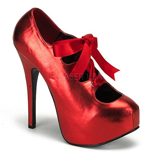 Plate-forme Escamotable Teeze-09 Bordello Womens Pump Rouge