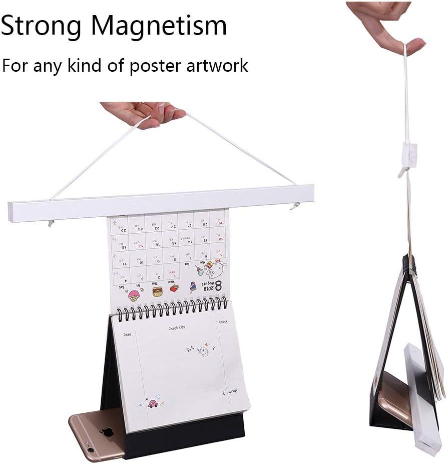 Magnetic Poster Hanger Frame Black, 13 13x19 13x22 13x24 Light Wood Wooden Magnet Canvas Artwork Print Dowel Poster Hangers Frames Hanging Kit