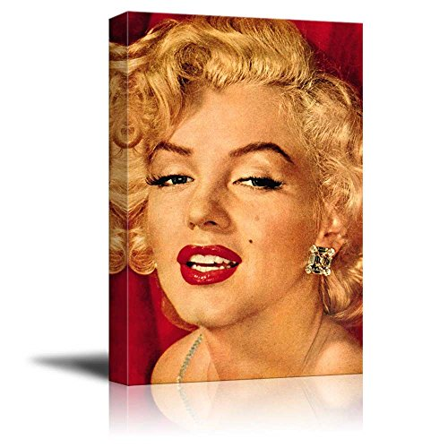 Portrait of Marilyn Monroe - Inspirational Famous People Series | Giclee Print Canvas Wall Art. Ready to Hang - 24