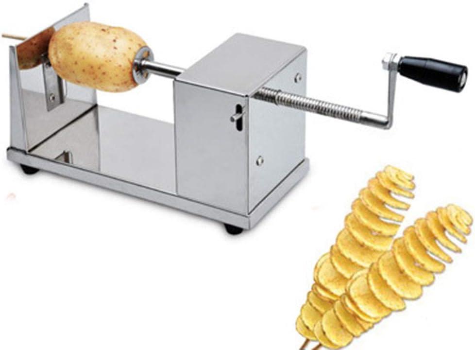 YUHT Cortador Patata,Pelador de Patatas en Forma de Espiral de Acero Inoxidable,Inoxidable M/áquina de Hacer Papas Fritas torcidas M/áquina de Corte de Papas Tornado Peladora