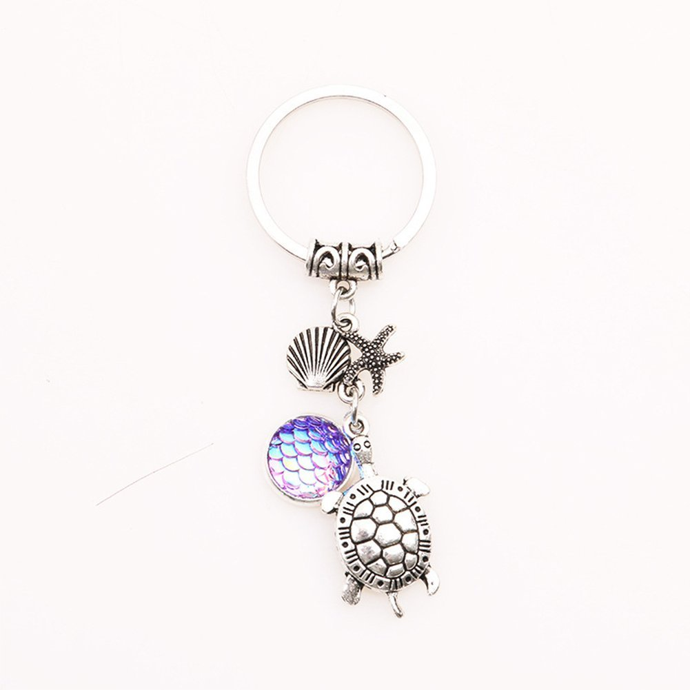 eec2dcf82f Buydee Retractable Metal Keychain Car Key Chain With Tortoise Shell Starfish  Retractable Key Buckle Keyfob Car Keyring Keychain Gift For Men and Women  ...