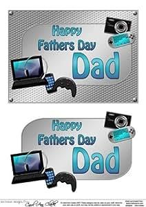 5x 7día de padres Papá Gadgets n Gizmos 3d Decoupage por Carol Clarke