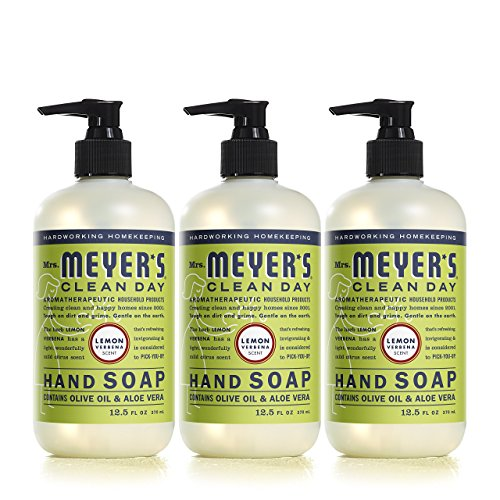 Verbena Natural (Mrs. Meyer´s Clean Day Hand Soap, Lemon Verbena, 12.5 fl oz, 3 ct)