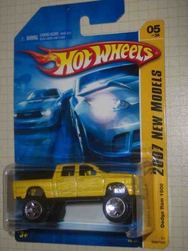 2007 New Models  5 Dodge Ram 1500  2007-5 Gelb K-Mart Exclusive Collectible Collector Car Mattel Hot Wheels by Hot Wheels