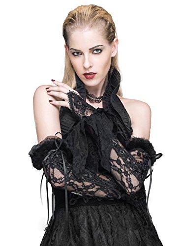 水星なめるトーンDevil Fashion ビクトリア朝のレースロングスリーブグローブロリータフィンガーレスブラックグローブ