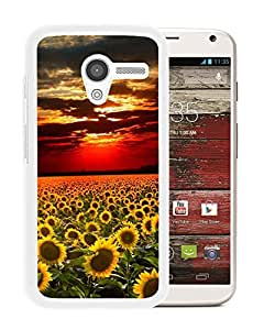 Nature Sunflower Field Landscape (2) Durable High Quality Motorola Moto X Phone Case