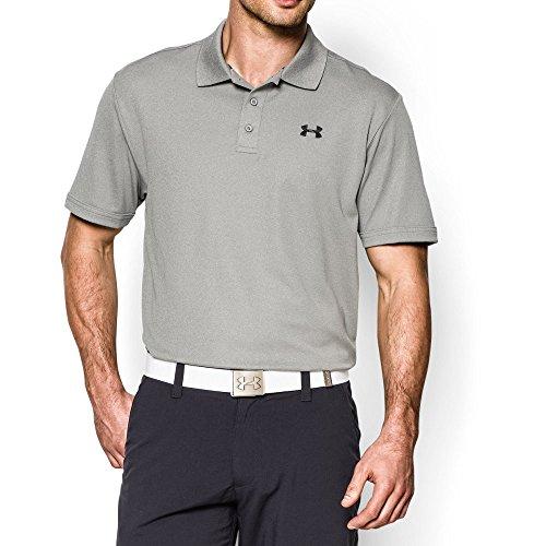 Under Armour Gray Shirt (Under Armour Men's Performance Polo, True Gray Heather/Black, Medium)