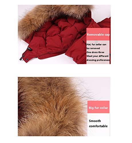 Red Chaqueta Piel Gruesa Clima Para Gran Frío Suelta Cuello Invierno En Fiestas Las Cálida Tamaño De Grande Y Unisex Larga HXF4Hdwf