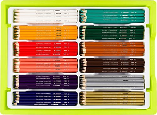 Jolly Supersticks Premium European Colored Pencils with Stackable Storage Box; 288 Pencils (24 each of 12 secondary colors), Arts and Crafts, Perfect for Adult and Kids Coloring
