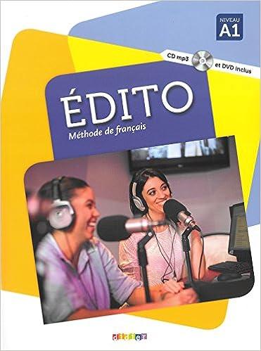 Livre Edito niv. A1 - Livre + CD mp3 + DVD pdf