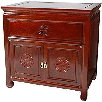 Ordinaire ORIENTAL FURNITURE Rosewood Bedside Cabinet   Cherry