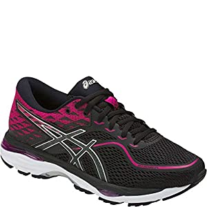 ASICS Women's Gel-Cumulus 19 Running Shoe, Black/Silver/Ink Peacoat, 7 Medium US