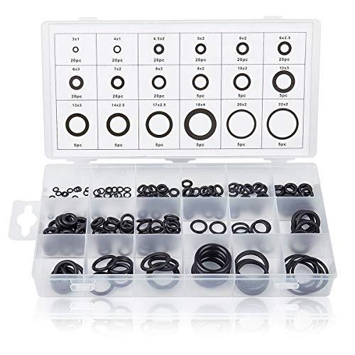 (OCGIG 225 Pcs 18 Sizes Rubber O-Ring Sealing Gasket Washer Seal Assortment Set)